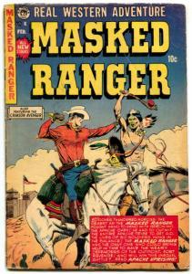 Masked Ranger Comics #6 1955- Crimson Avenger- Woodbridge art VG