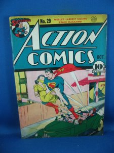 ACTION COMICS 29 F+ SUPERMAN 2ND LOIS LANE COVER 1940