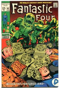 FANTASTIC FOUR #85, VF, Doctor Doom, Jack Kirby, 1961, more FF in store, QXT