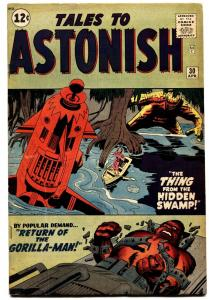 TALES TO ASTONISH #30 1962-MARVEL-JACK KIRBY-STEVE DITKO ART-GORILLA-MAN