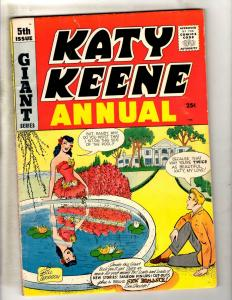 Katy Keene Annual Giant Series # 5 FN Archie Series Comic Book Bill Woggon JL10