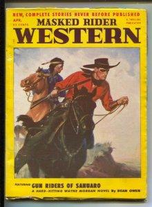Masked Rider Western 4/1952-Thrilling-Gun Riders of Sahuaro- Dean Owen-Secr...