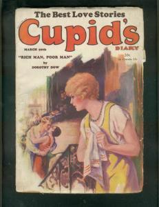 CUPID'S DIARY-PULP-3/20/1929-DOROTHY DOW-ROMANCE-RARE   G/VG