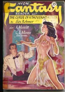 Avon Fantasy Reader #7 1948-Spicy Good Girl Art cover-Sax Rohmer-Gruber-G/VG