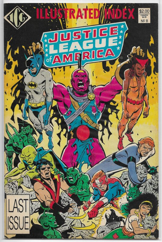Justice League of America Index   #8 VG McDonnell cover, JL Detroit, Vibe