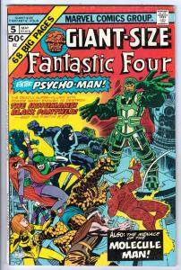 Giant-Size Fantastic Four #5 (May-75) FN/VF+ High-Grade Fantastic Four, Mr. F...