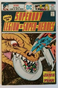 Superboy #213 (1975) Legion Of Super-Heroes The Jaws Of Fear, F/VF- 7.0