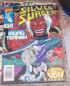 Silver Surfer #80 (May 1993, Marvel) morg vs terral heralds of galactus