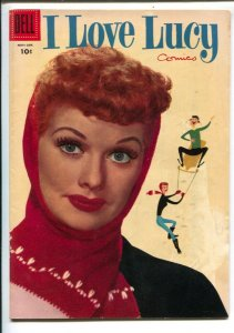 I Love Lucy #8 1956-Dell-Lucille Ball photo portrait cover-based on her TV se...