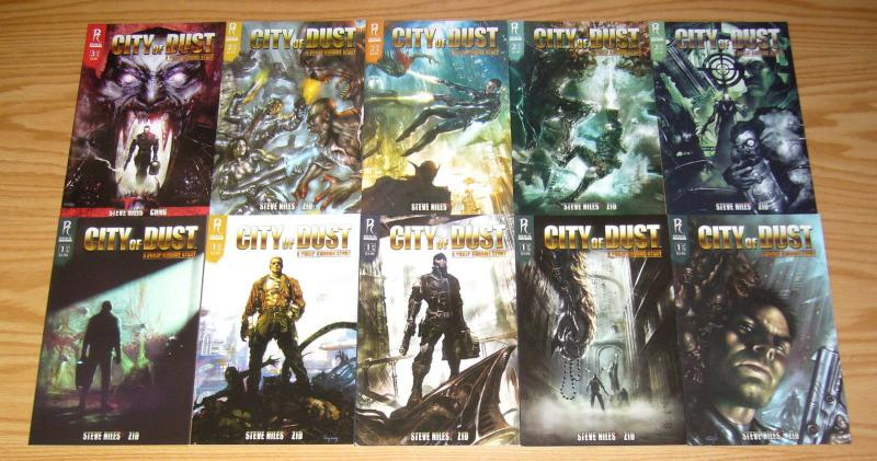City of Dust #1-5 VF/NM complete series + all variants + preview - steve niles
