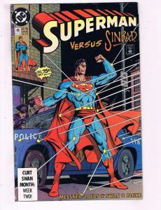 Superman #48 VF DC Comics Comic Book Ordway Sinbad DE16