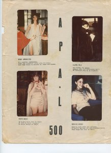APA-L 500 - Single Page of Sexy Female LASFS members in Cosplay - Rare!