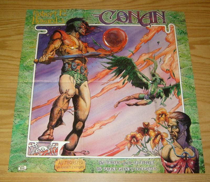 Conan: Authorized Dramatizations poster - 20 x 20 - tim conrad moondance 1976