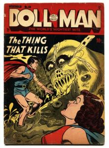 Doll Man #43 1952- Horror- Cthulhu like creature-Torchy VG-