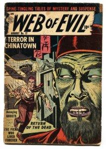 WEB OF EVIL #17 1954 QUALITY COMICS ASIAN MENACE OPIUM G-