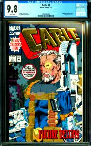 Cable #1 CGC Graded 9.8 Fabien Nicieza Story w Embossed Gold Foil Wraparound Cov