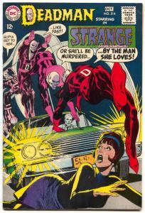 STRANGE ADVENTURES #214 1968-DC COMICS-DEADMAN-neal adams VF