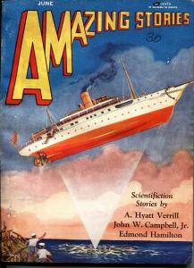AMAZING STORIES JUNE 1930-EDMOND HAMILTON-L. MOREY cover