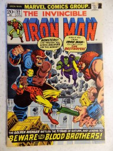 IRON MAN # 55 MARVEL 1ST THANOS GREAT KEY