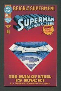 Superman Man of Steel #22 / 8.5 VFN+  June 1993