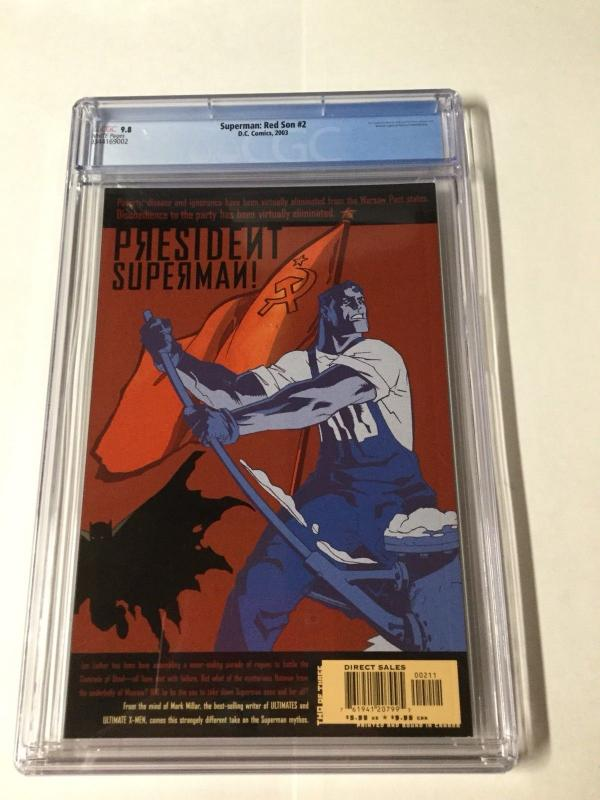 Superman Red Son 2 Cgc 9.8 White Pages New Case Dc Elseworlds