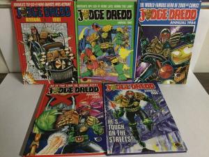 Judge Dredd Annual 1981 1982 1984 1985 1985 Oversized HC Hardcover B17