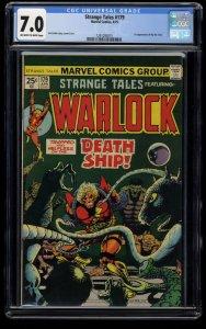 Strange Tales #179 CGC FN/VF 7.0 1st Pip The Troll! Adam Warlock!