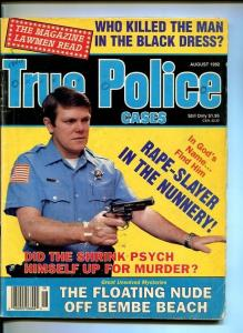 TRUE POLICE CASES-AUGUST-1992-FLOATING NUDES-RAPIST AT NUNNERY-CROSS DR G/VG