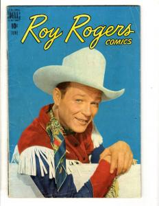 Roy Rogers # 6 FN Dell Golden Age Comic Book Western Cowboy JL2