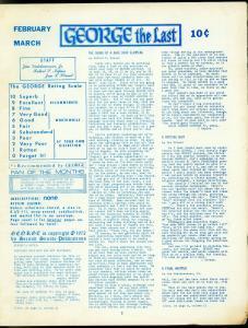 George Fanzine #10 1972- Newsletter format reviews- Rare VG