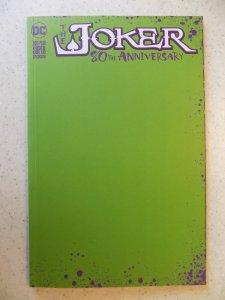 JOKER 80TH ANNIVERSARY GREEN BLANK  HOT BOOK