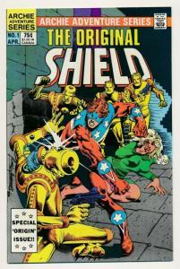 Archie Adventure THE ORIGINAL SHIELD #1,  1984 ~ VF/NM (PF649)