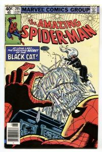 AMAZING SPIDER-MAN #205 comic book 1980-BLACK CAT-MARVEL NM-
