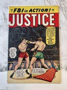 Justice Comics #7 F+ 6.5 10c golden age 1947 syd shores CHRIS RULES c/a vintage