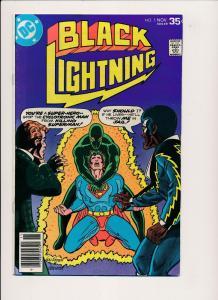 DC Comics BLACK LIGHTNING #5 ~ 1st series (1977) ~ F/VF (PF186) Superman App.