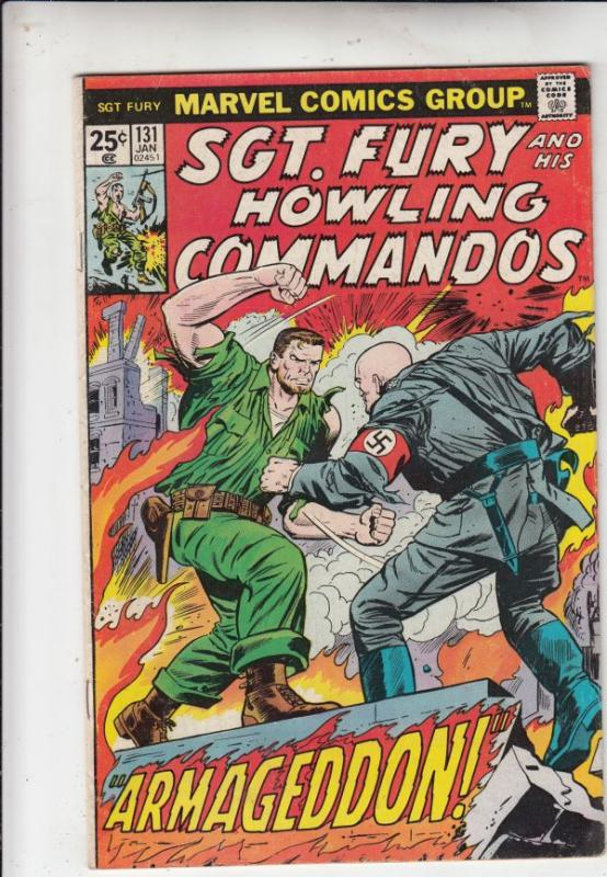 Sgt. Fury and His Howling Commandos #131 (Jan-75) FN- Mid-Grade Sgt. Fury, Du...