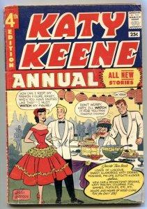 Katy Keene Annual #4 1957- Giant- paperdolls VG