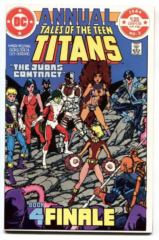 Tales Of The Teen Titans Annual #3 1984  Judas Contract comic book NM-