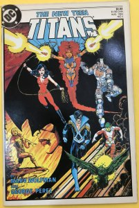 New Teen Titans 1 -George Perez Sign , Old School Interior Splash Baxter Paper -