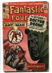 FANTASTIC FOUR #16 1963- 1st ANT-MAN CROSSOVER- MARVEL SILVER AGE G-