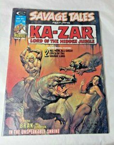 SAVAGE TALES FEATURING KA-ZAR LORD OF THE HIDDEN JUNGLE #7, 1974, MARVEL VG FN