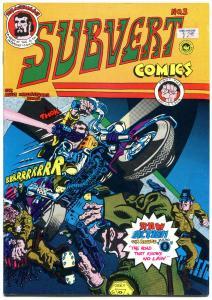 SUBVERT COMICS #3, FN+, Spain Rodriguez, Underground, 1970, 1st,more UG in store
