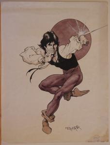 VAL MAYERIK original art, MARVEL PREVIEW #24 pg 5, Splash, 1981, Paradox, Signed