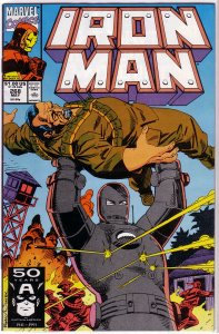 Iron Man   vol. 1  #268 VG Byrne/Ryan, origin, Mandarin