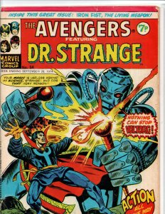 Avengers #54 - Dr Strange - Marvel UK - Magazine Size - 7p - 1974 - VG