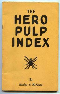 The Hero Pulp Index by Weinberg & McKinstry 1971 fanzine
