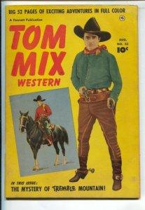 Tom Mix Western #31 1950-Fawcett-Photo cover -Carl Pfeufer story art-VG