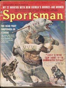 Sportsman 11/1960-polar bear attack cover-Vic Prizio-pulp thrills-G/VG