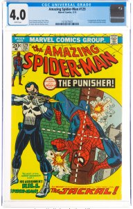 The Amazing Spider-Man #129 (Marvel, 1974) CGC VG 4.0 White pages. First appe...