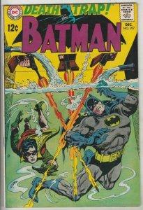 Batman # 207 Strict VF/NM- High-Grade Cover Death Trap Artist Irv Novick